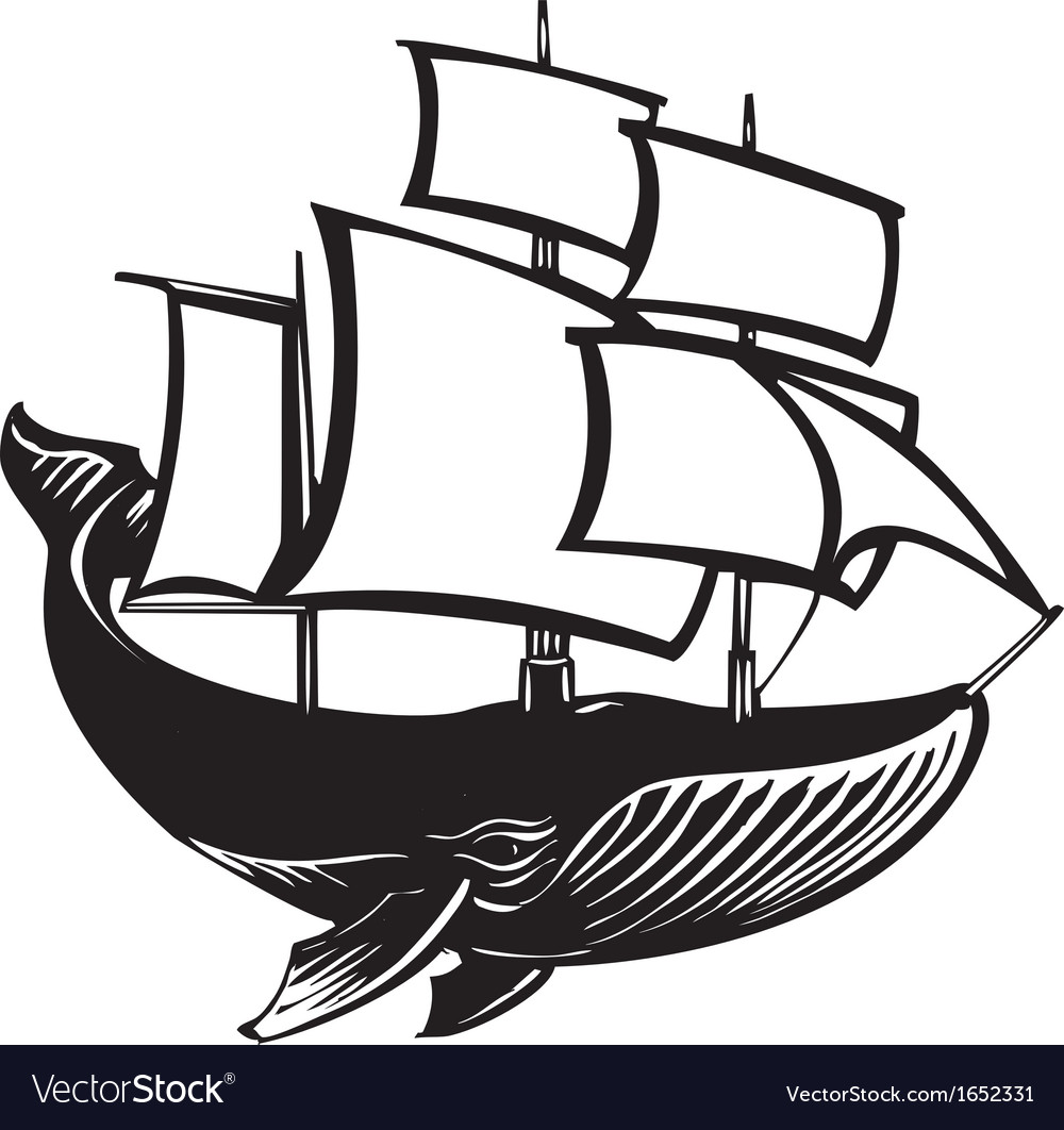 Sail whale vector | Price: 1 Credit (USD $1)