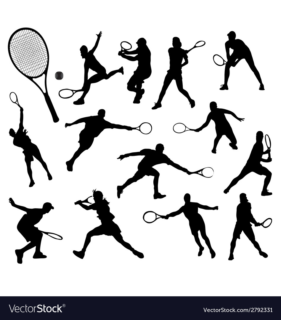 Tennis 7 vector | Price: 1 Credit (USD $1)