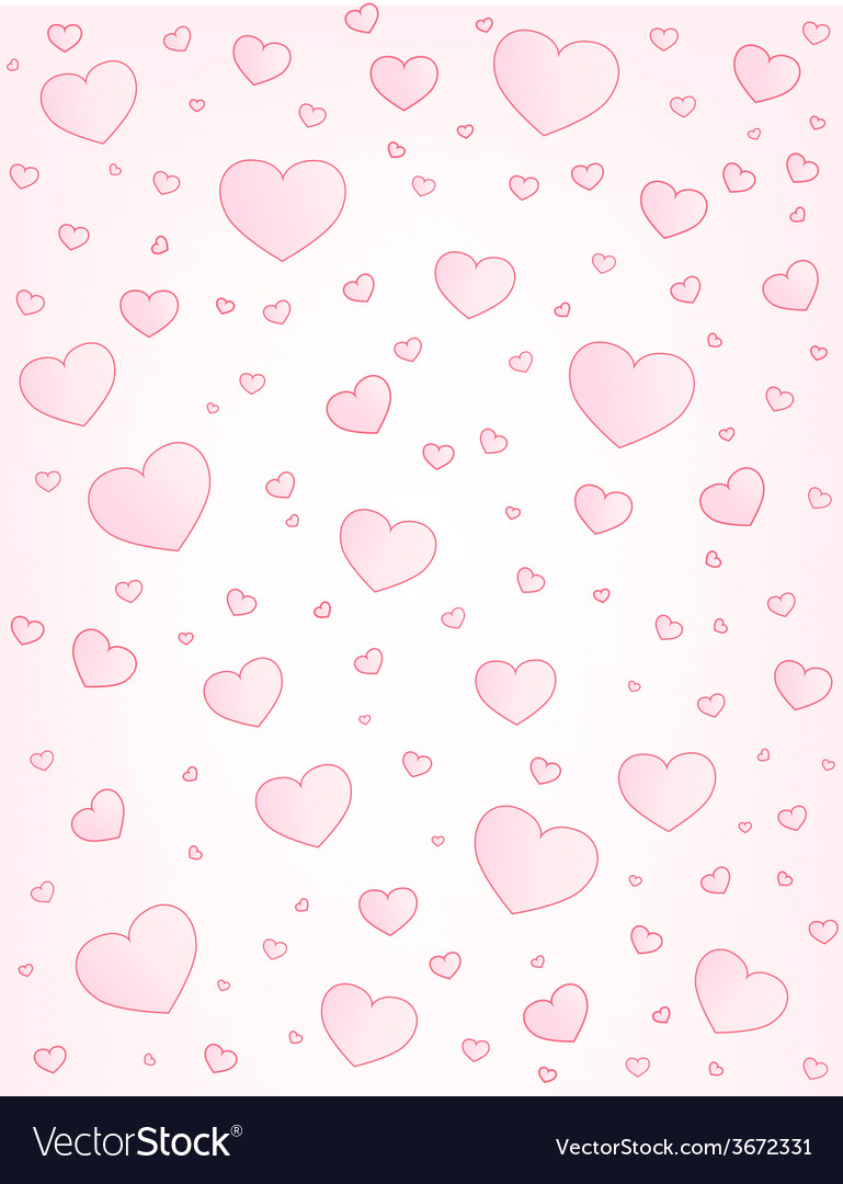 Valentine card hearts background vector | Price: 1 Credit (USD $1)