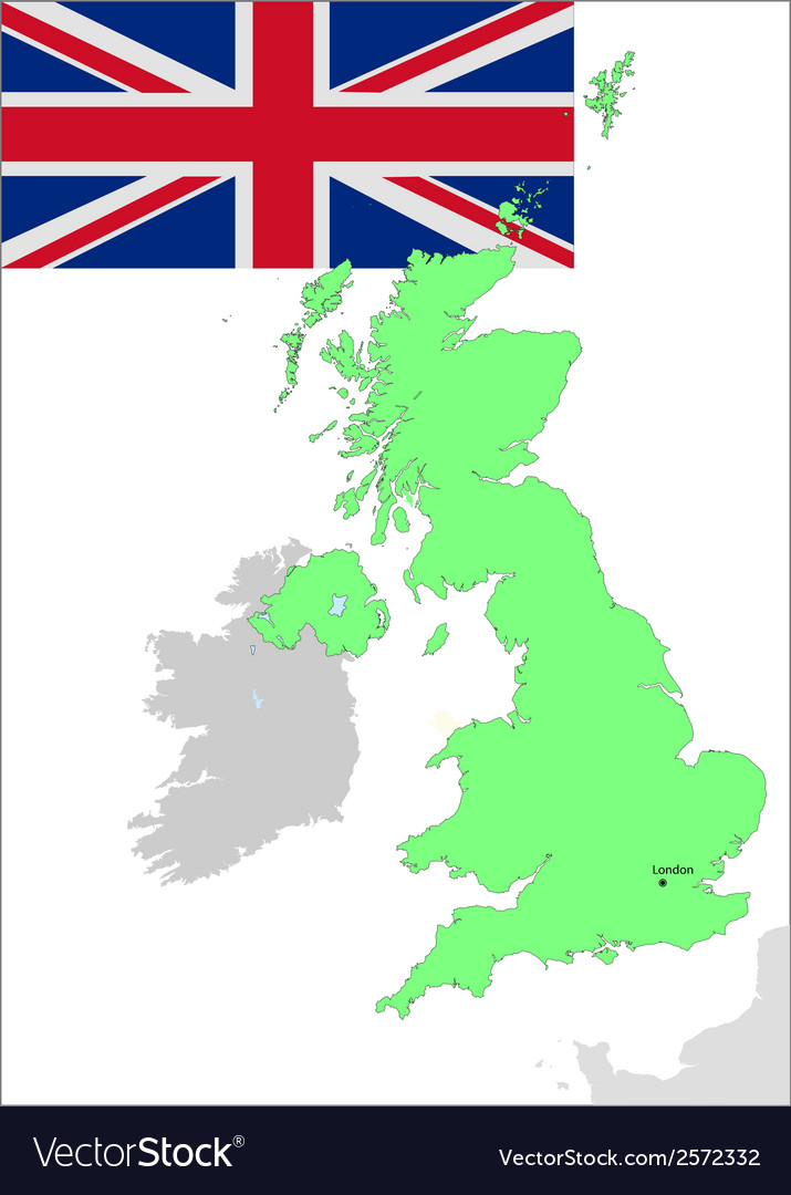 6131 uk map and flag vector | Price: 1 Credit (USD $1)