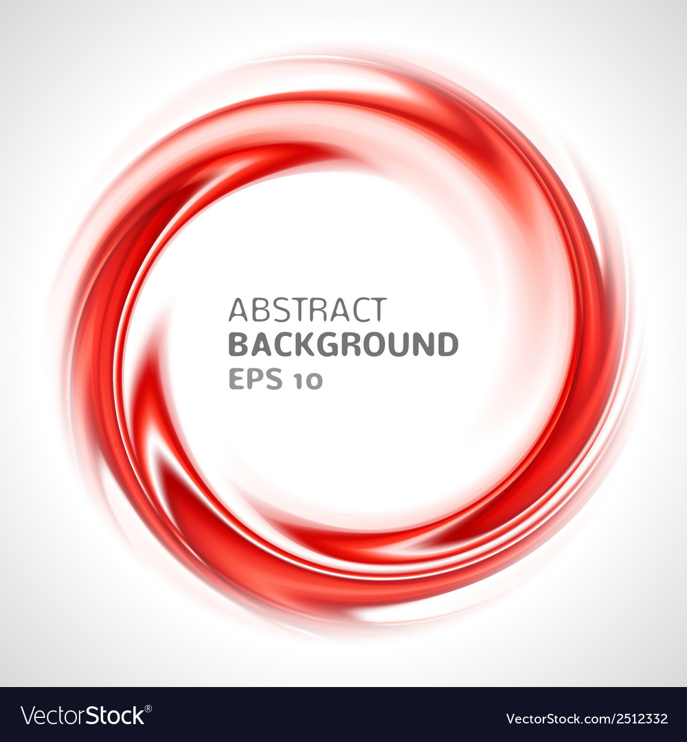 Abstract red swirl circle bright background vector | Price: 1 Credit (USD $1)