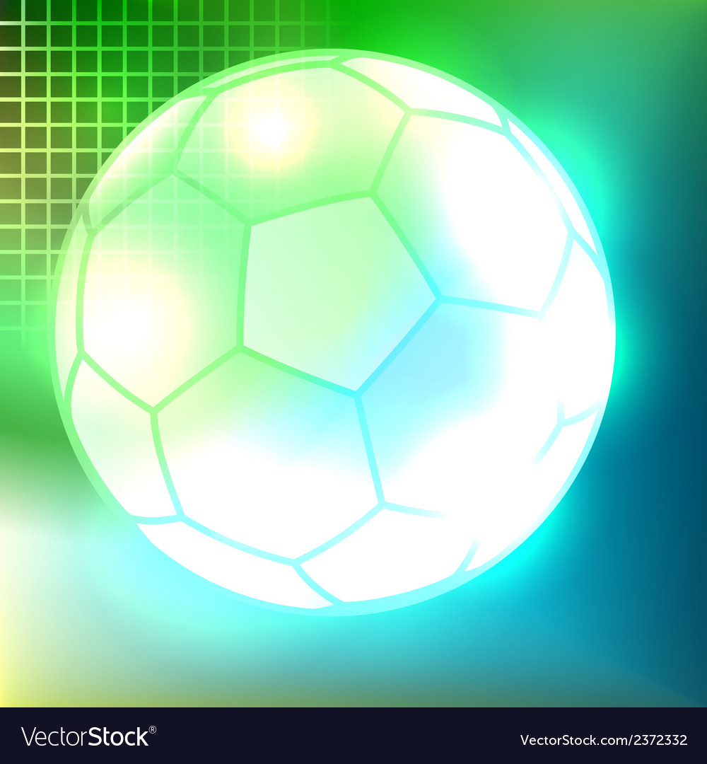 Abstract soccer ball background vector | Price: 1 Credit (USD $1)