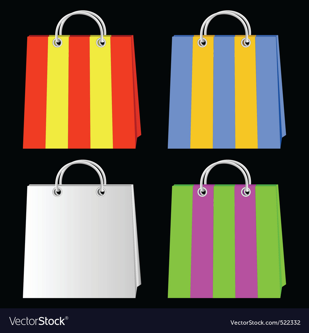 Bags for purchases vector | Price: 1 Credit (USD $1)
