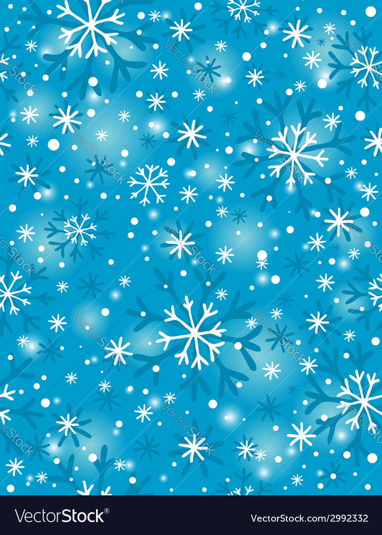 Blue background with many snowflakes vector | Price: 1 Credit (USD $1)