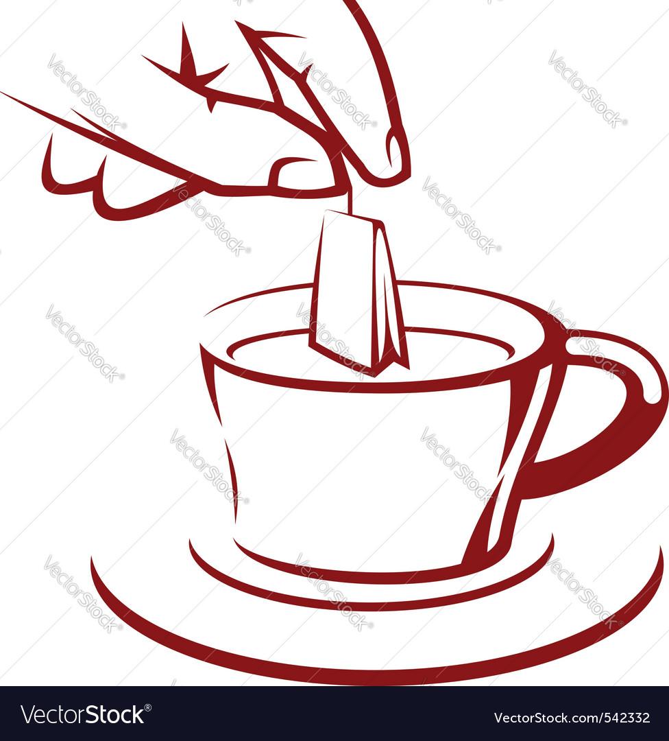 Brewing tea vector | Price: 1 Credit (USD $1)
