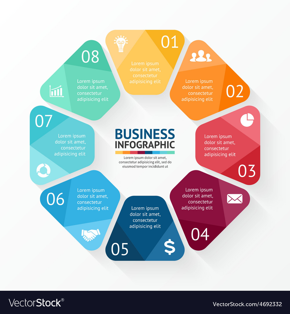 Circle infographic template for cycle vector | Price: 1 Credit (USD $1)