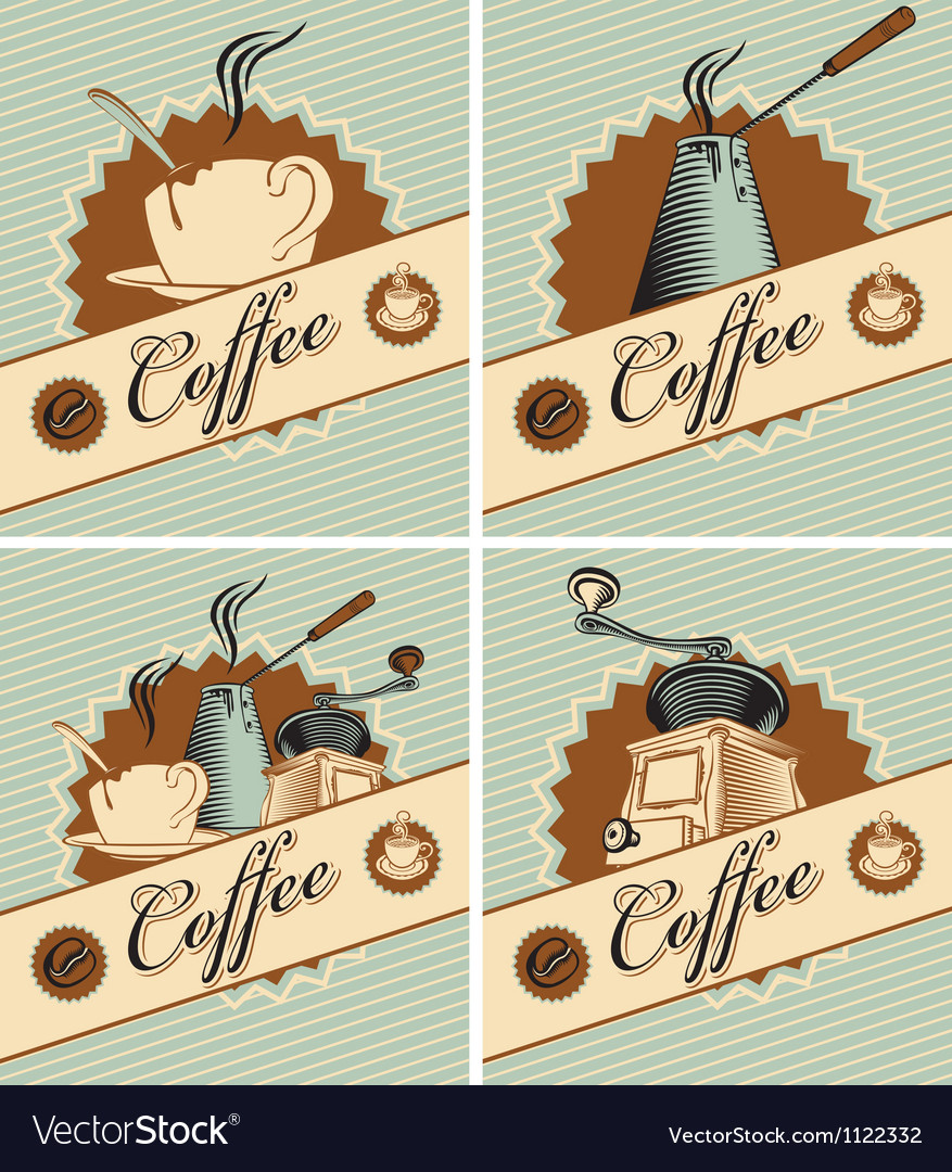 Coffee in retro style vector | Price: 1 Credit (USD $1)