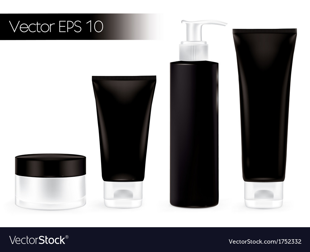Cosmetics bottles black all vector | Price: 1 Credit (USD $1)