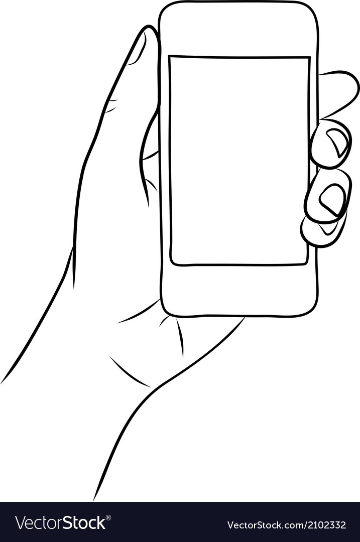 Hand holding the smart phone vector | Price: 1 Credit (USD $1)
