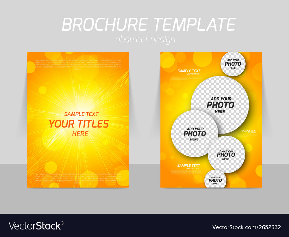 Orange flyer template design vector | Price: 1 Credit (USD $1)
