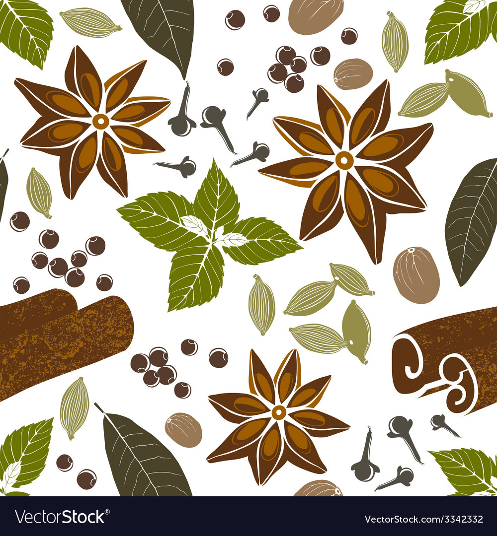Seamless pattern with spices vector | Price: 1 Credit (USD $1)