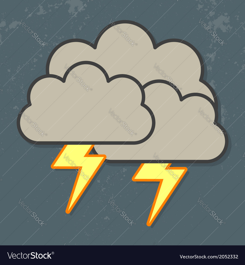 Thunder clouds vector | Price: 1 Credit (USD $1)