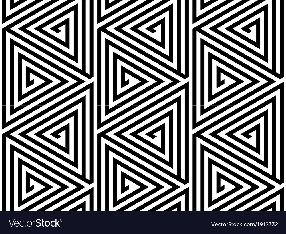 Triangles black white abstract seamless pattern vector | Price: 1 Credit (USD $1)