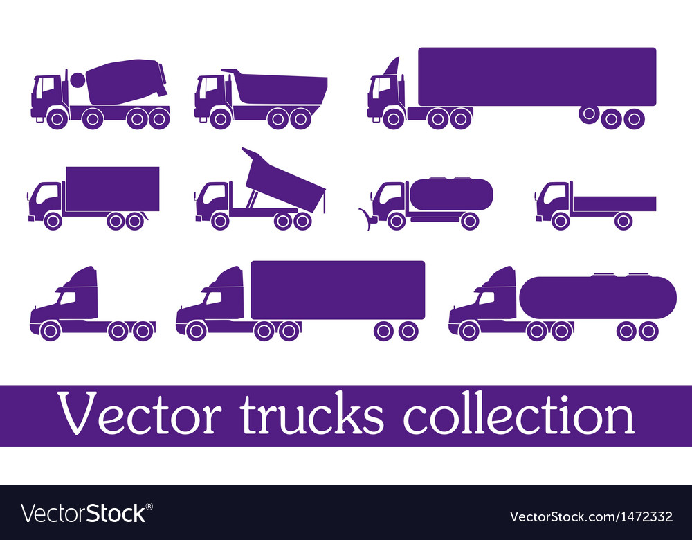 Trucks vector | Price: 1 Credit (USD $1)