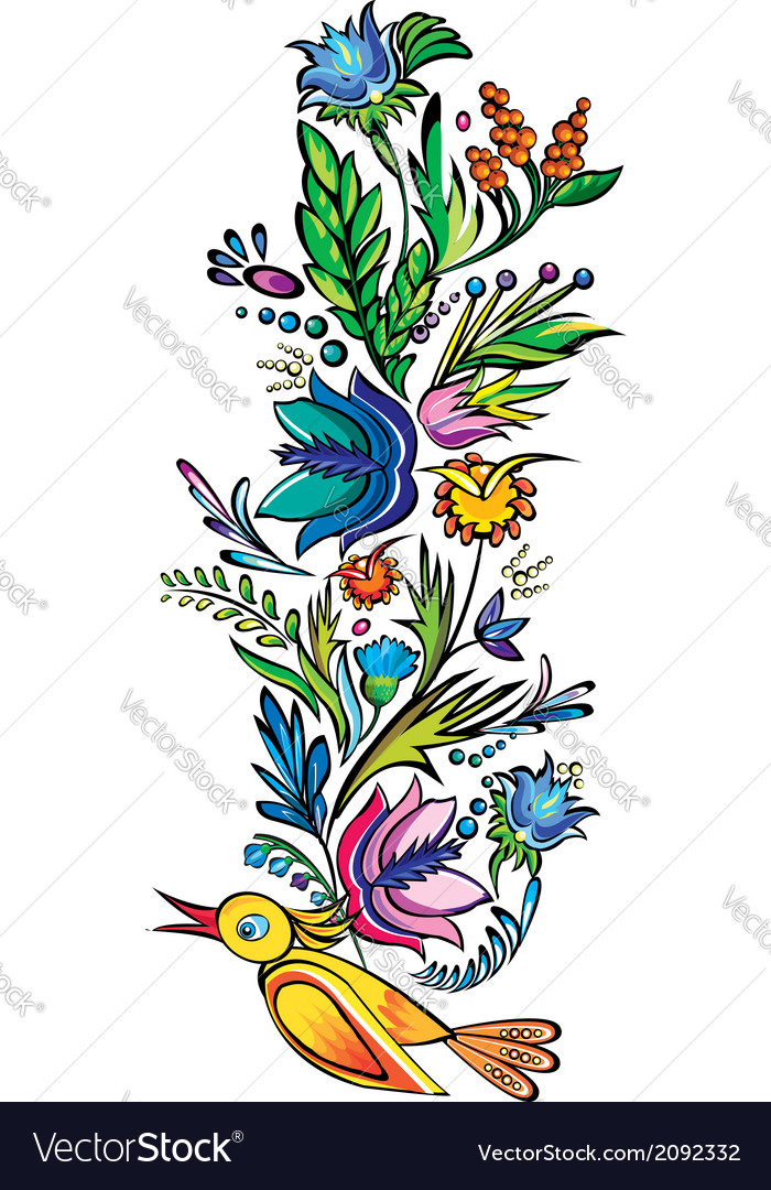 Ukrainian ethnic floral ornament vector | Price: 1 Credit (USD $1)