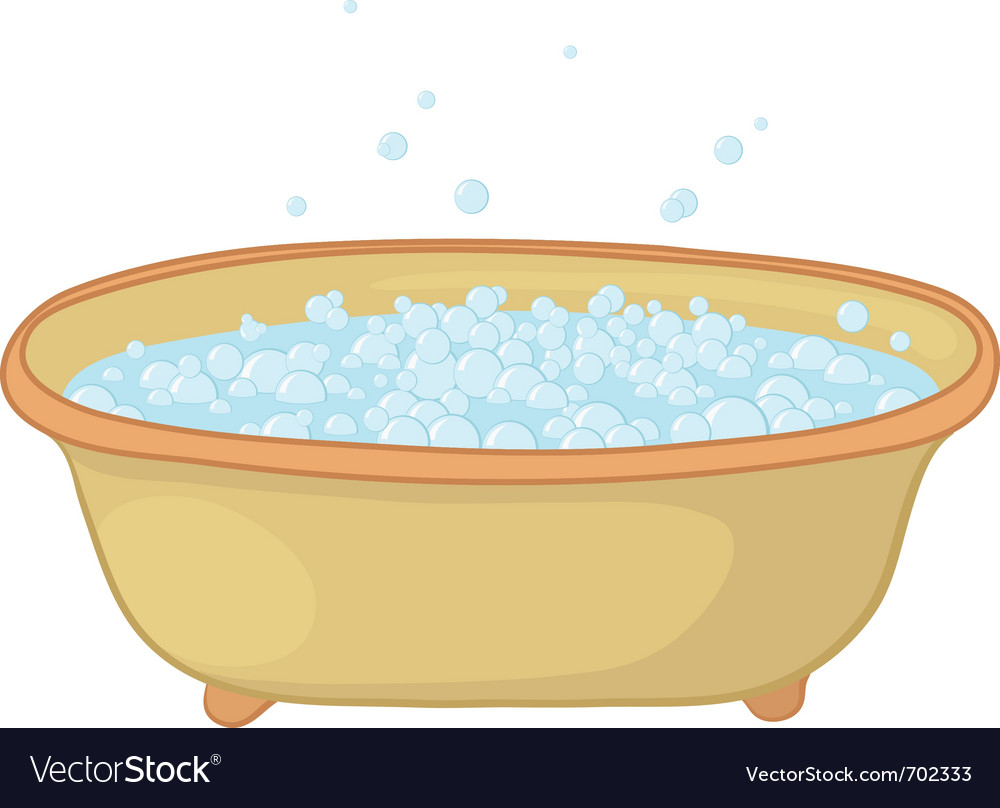 Bath with bubbles vector | Price: 1 Credit (USD $1)