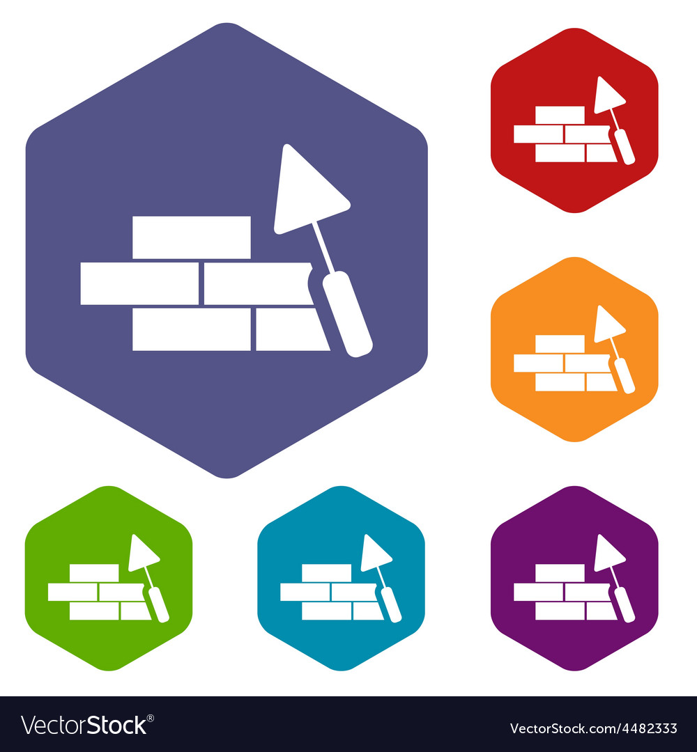 Building rhombus icons vector | Price: 1 Credit (USD $1)