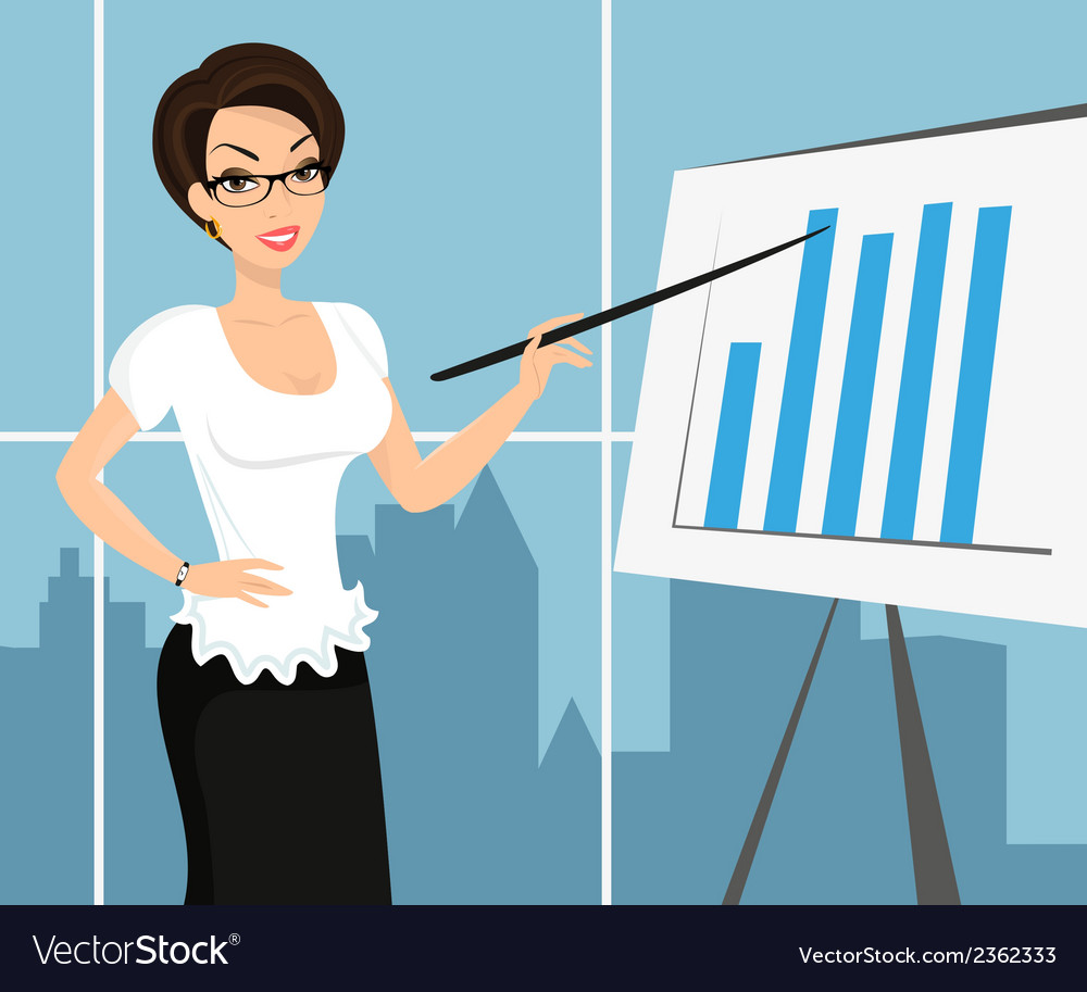 Business woman wearing white blouse and vector | Price: 1 Credit (USD $1)