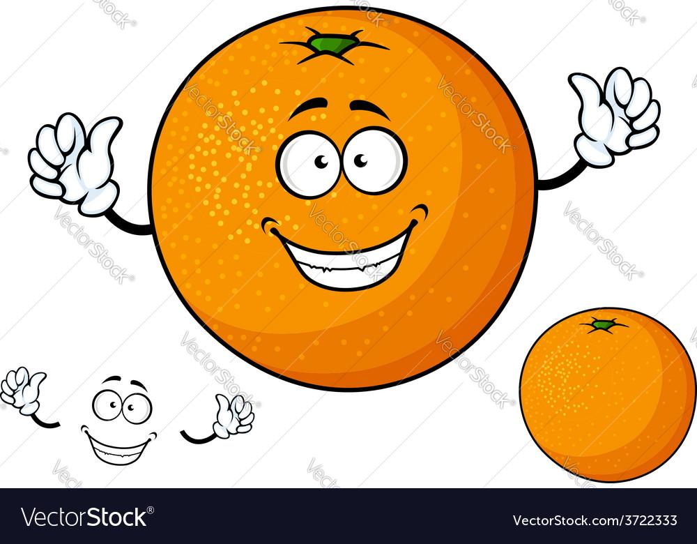 Cartoon funny juicy orange fruit vector | Price: 1 Credit (USD $1)