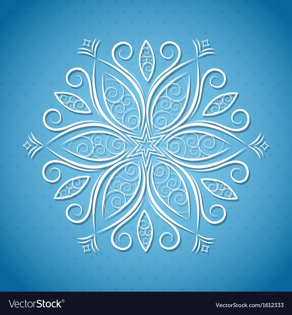 Christmas background with snowflake vector | Price: 1 Credit (USD $1)