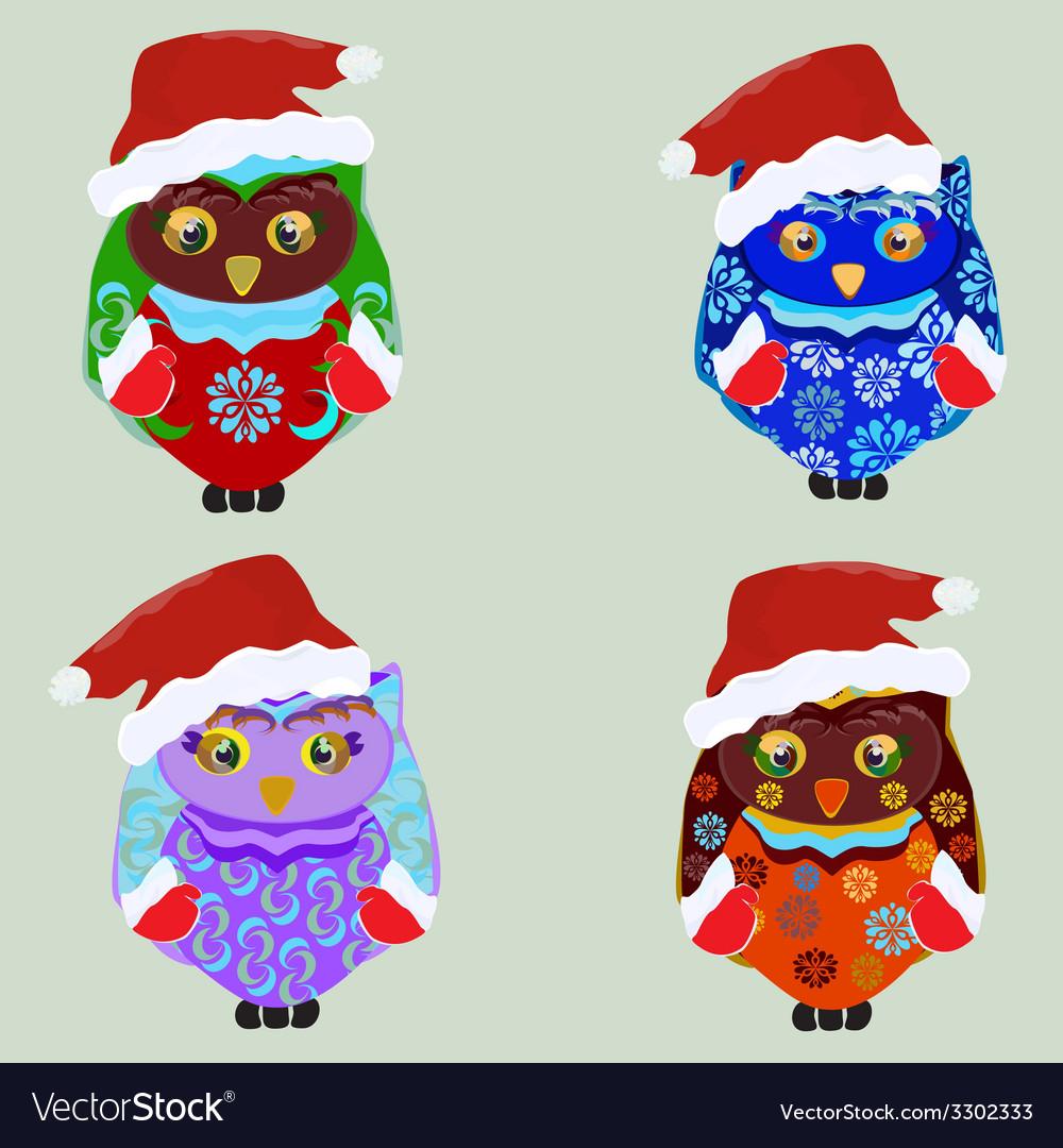 Christmas owl vector | Price: 1 Credit (USD $1)