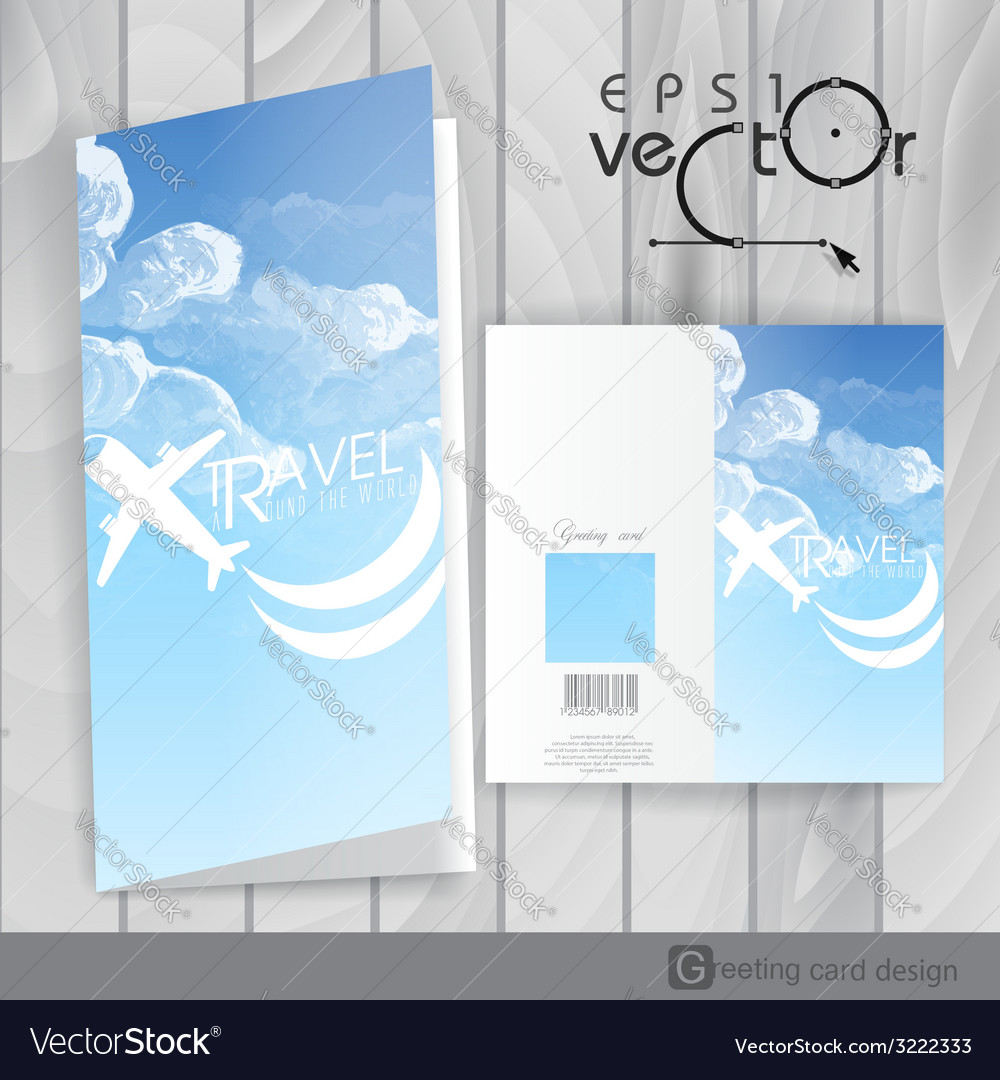Greeting card design template vector   Price: 1 Credit (USD $1)