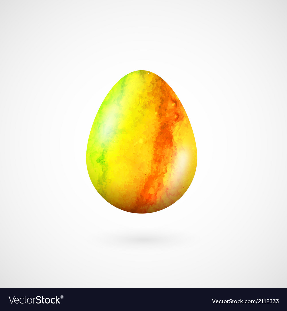 Happy easter egg isolated on white vector | Price: 1 Credit (USD $1)