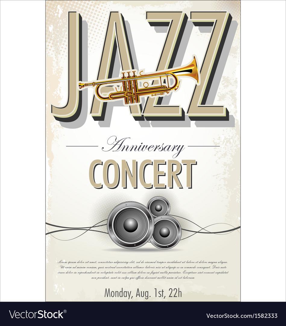 Jazz concert poster vector | Price: 1 Credit (USD $1)