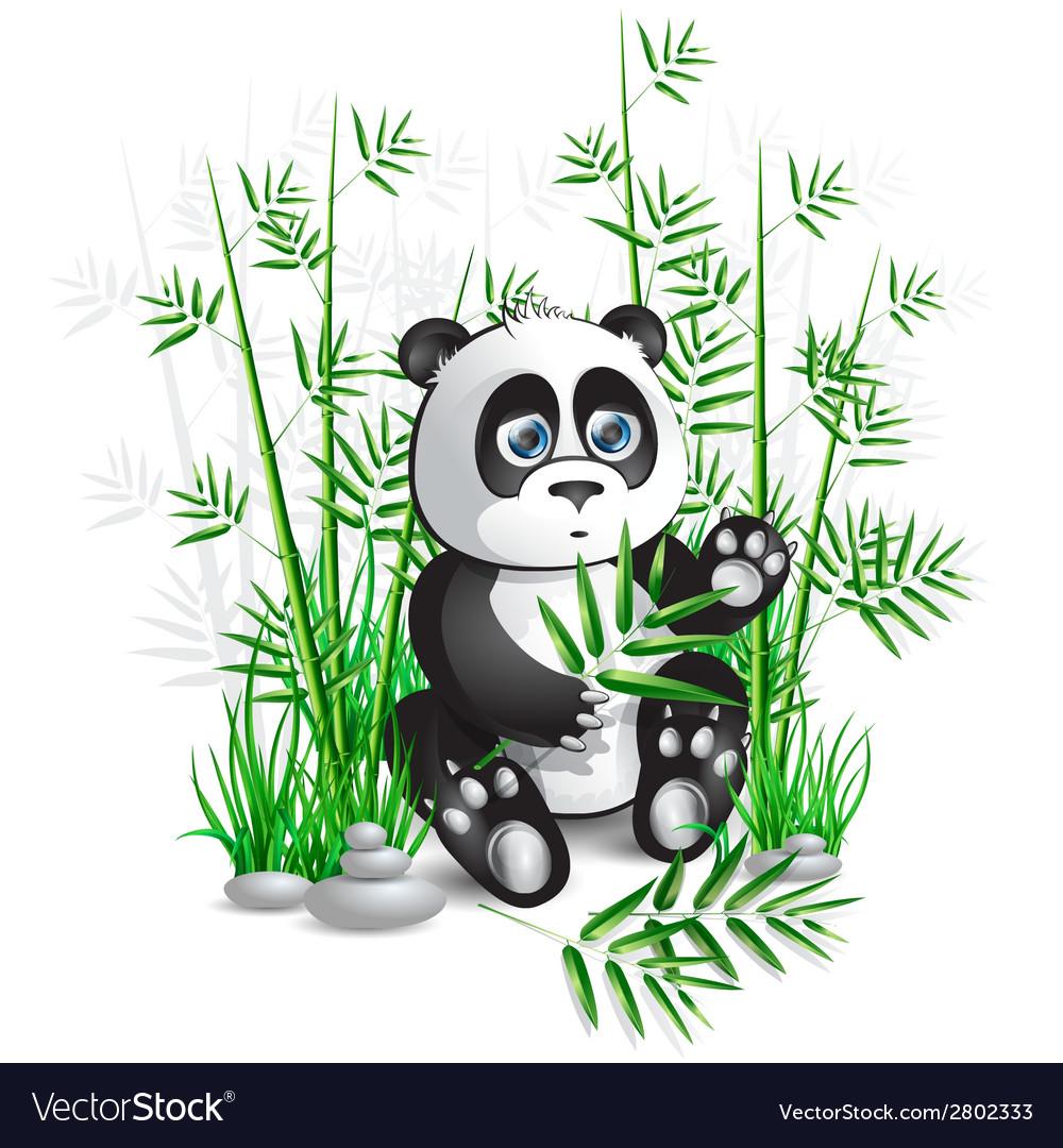Panda bamboo vector | Price: 1 Credit (USD $1)