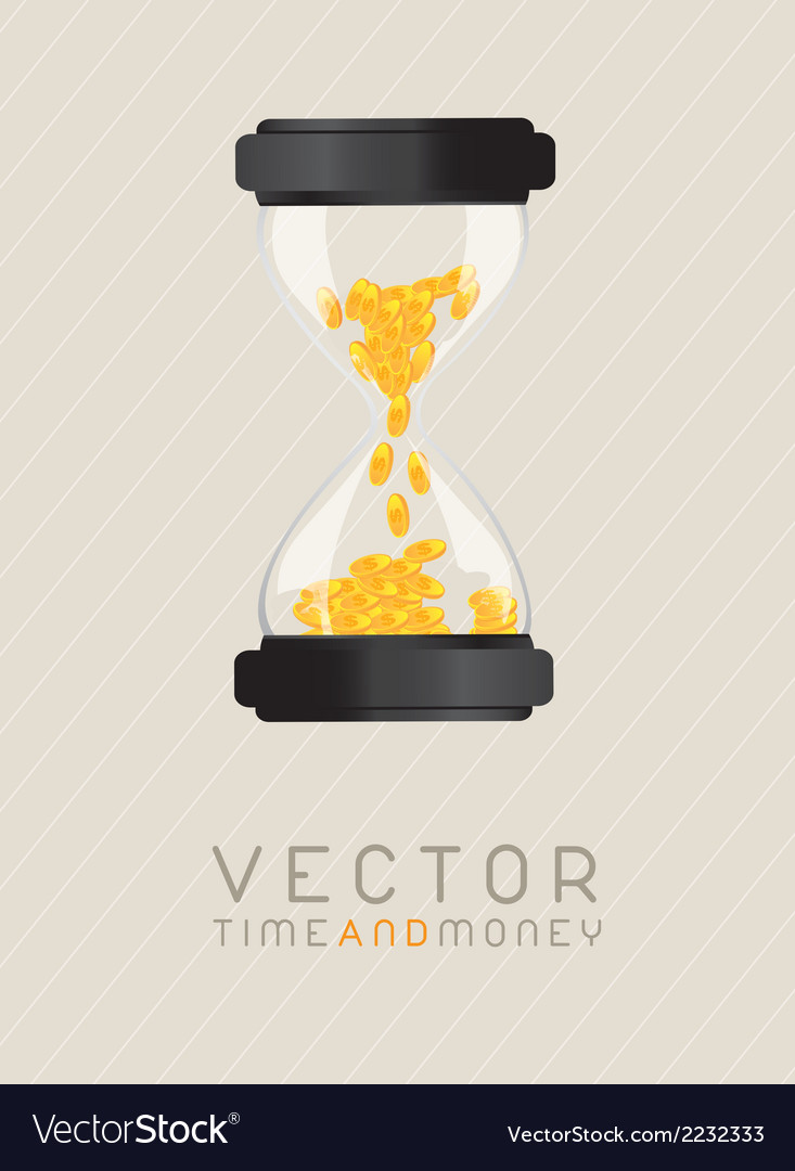 Time and money vector | Price: 1 Credit (USD $1)