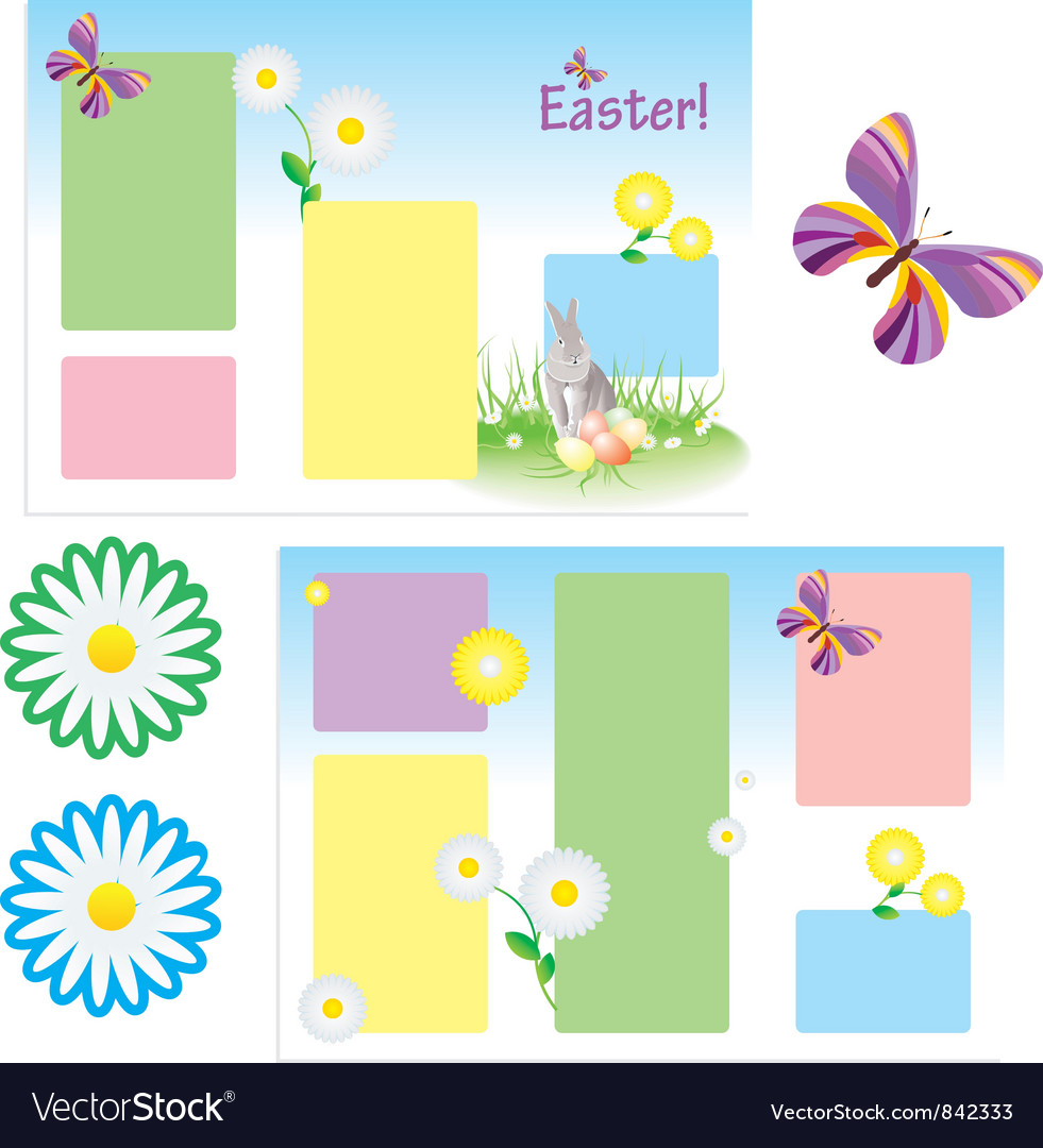 Tri-folder template for spring vector | Price: 1 Credit (USD $1)