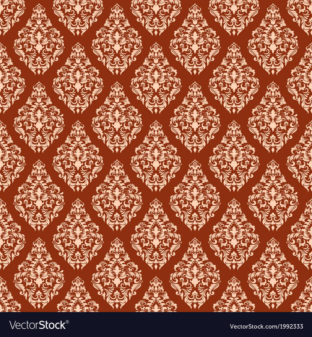 Vintage damask seamless pattern vector   Price: 1 Credit (USD $1)