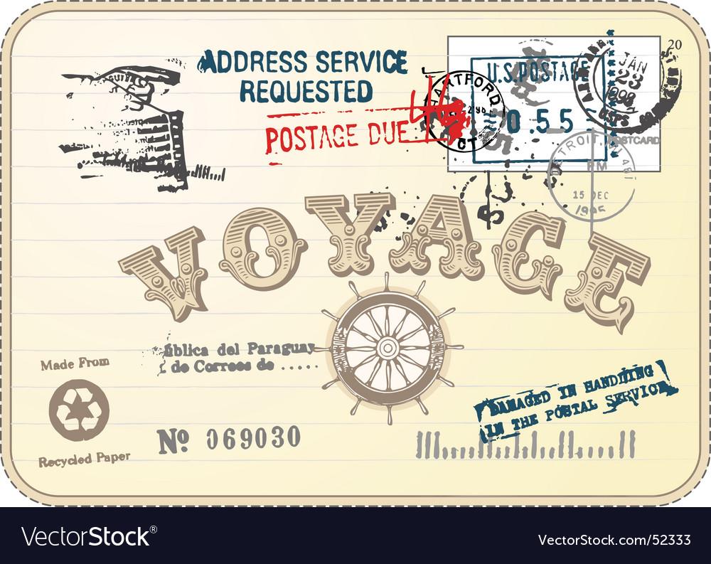 Vintage postcard illustration vector | Price: 1 Credit (USD $1)