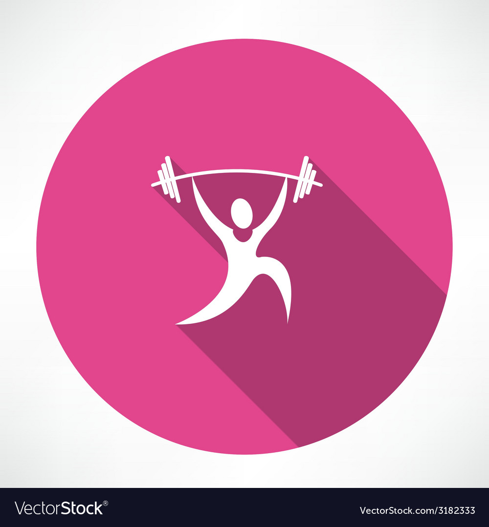 Weightlifter icon vector | Price: 1 Credit (USD $1)