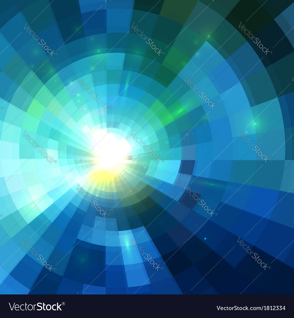 Abstract blue shining tunnel background vector | Price: 1 Credit (USD $1)