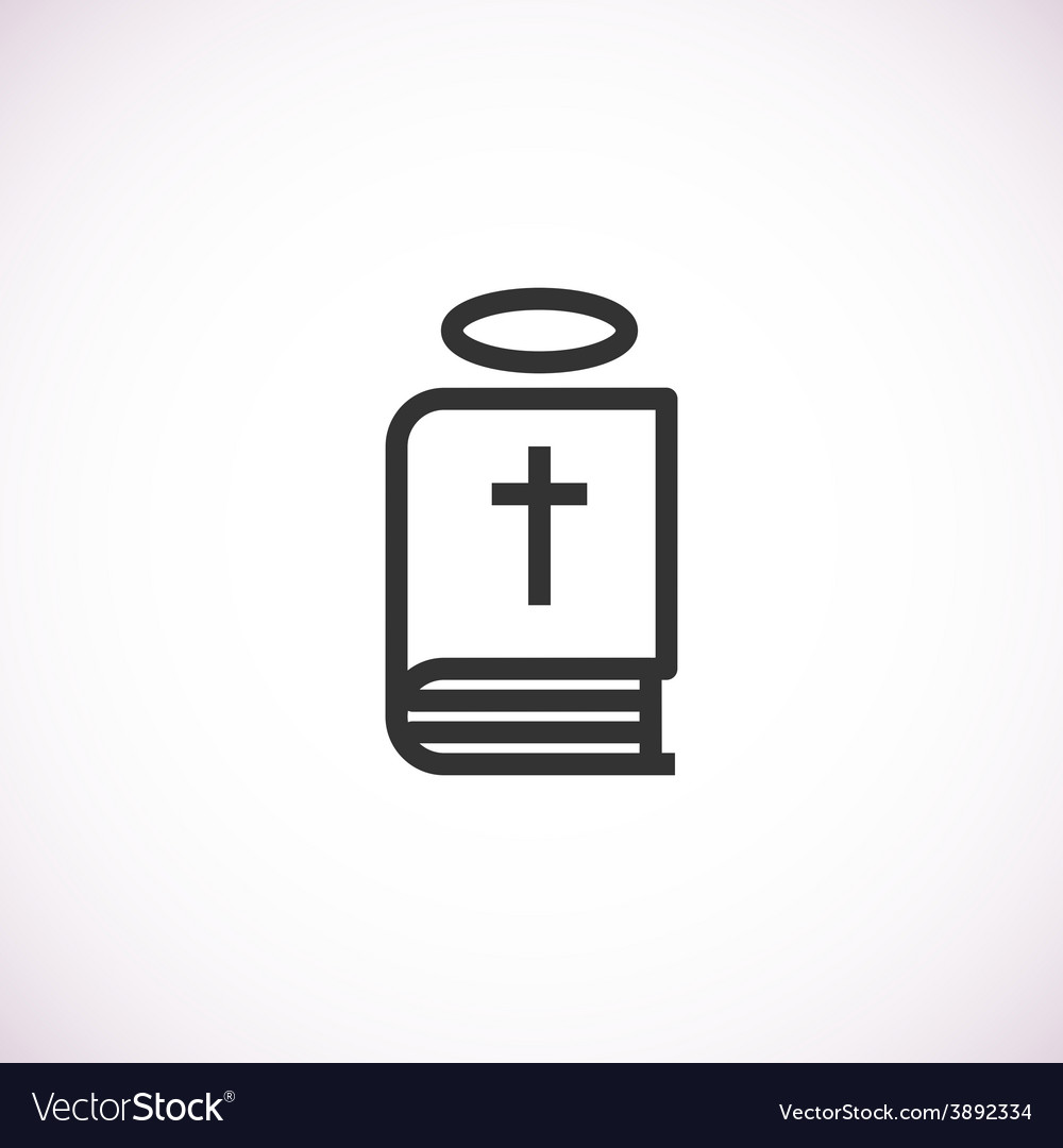 Bible icon with halo vector | Price: 1 Credit (USD $1)