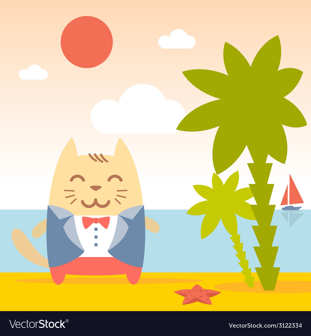 Character groom in a wedding suit colorful flat vector | Price: 1 Credit (USD $1)