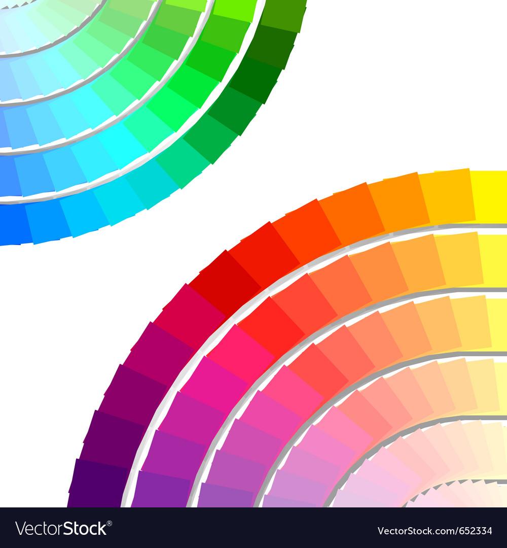 Color spectrum palette vector | Price: 1 Credit (USD $1)