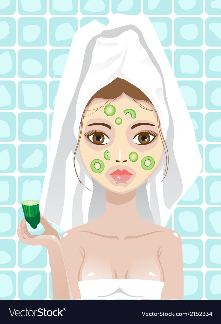 Cucumber mask vector | Price: 1 Credit (USD $1)