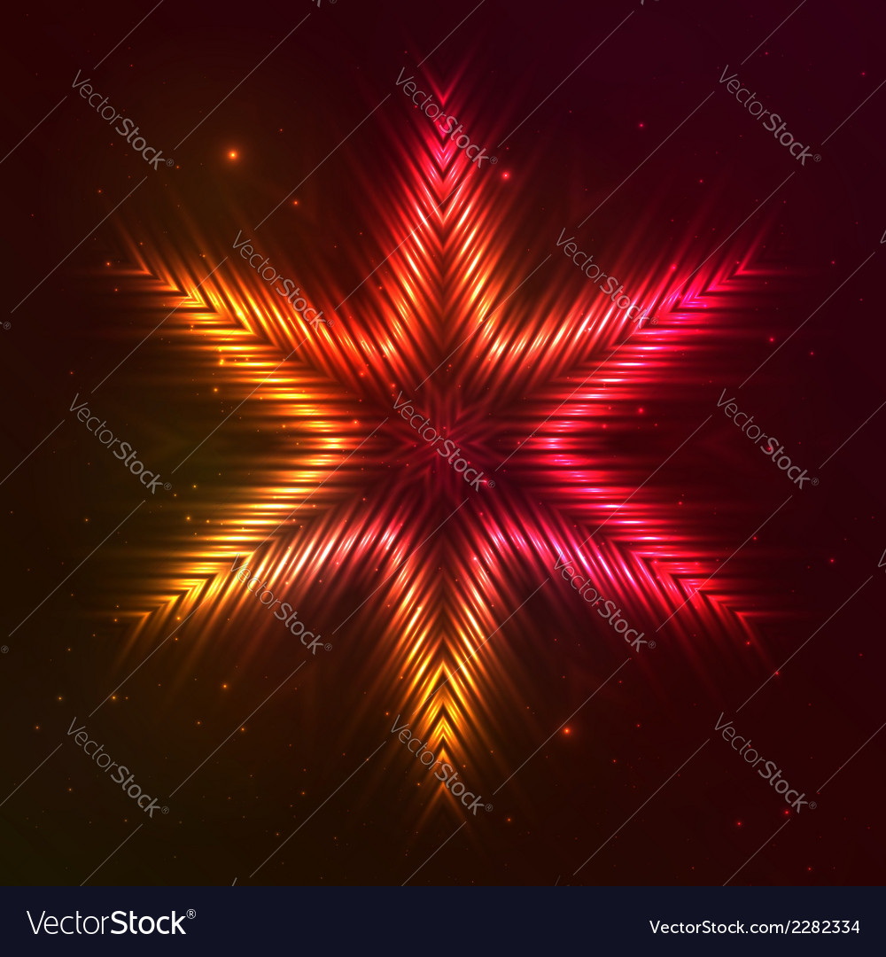 Fire red star vector | Price: 1 Credit (USD $1)