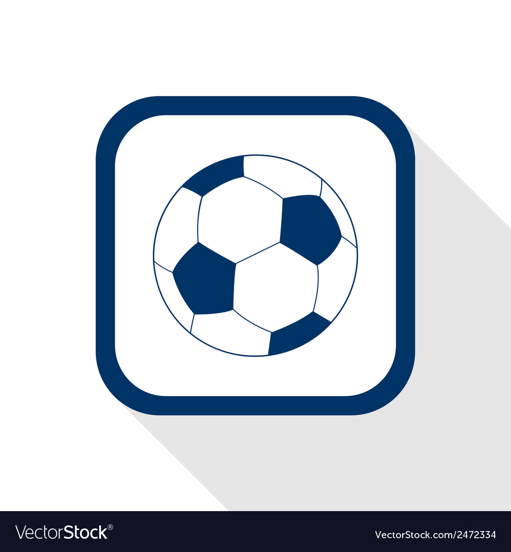 Football flat icon vector | Price: 1 Credit (USD $1)