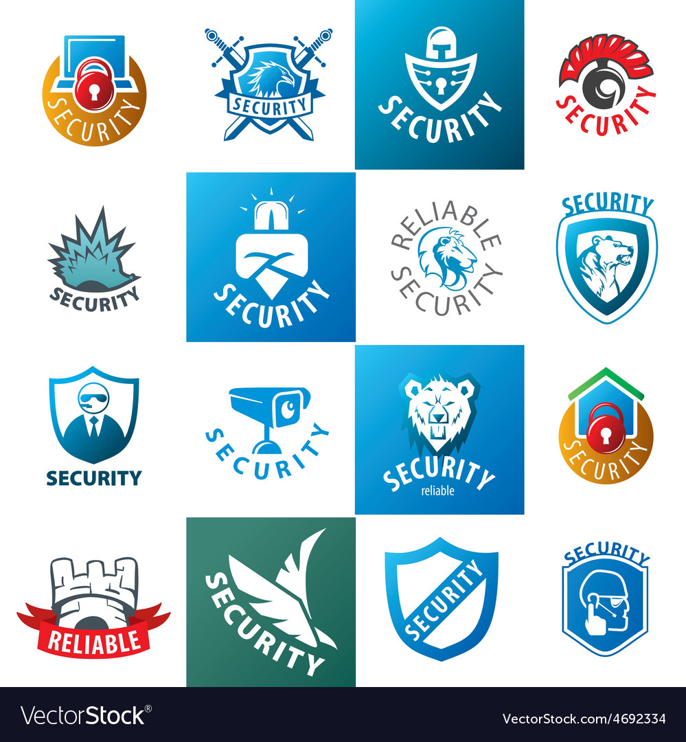 Large set of logos protection vector | Price: 1 Credit (USD $1)
