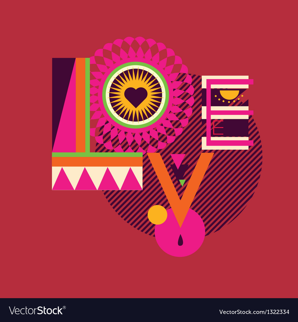 Love art poster vector | Price: 1 Credit (USD $1)
