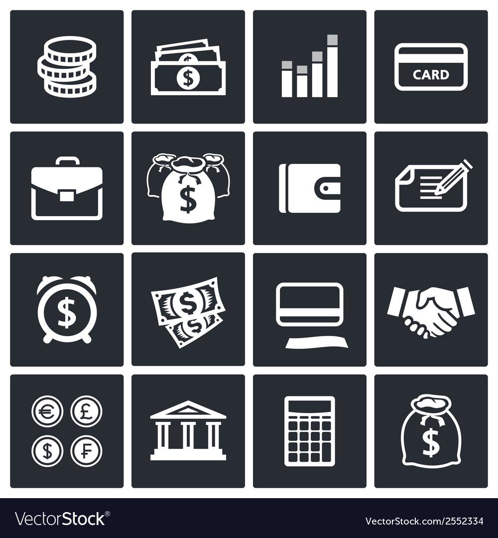 Money finance icons set vector   Price: 1 Credit (USD $1)