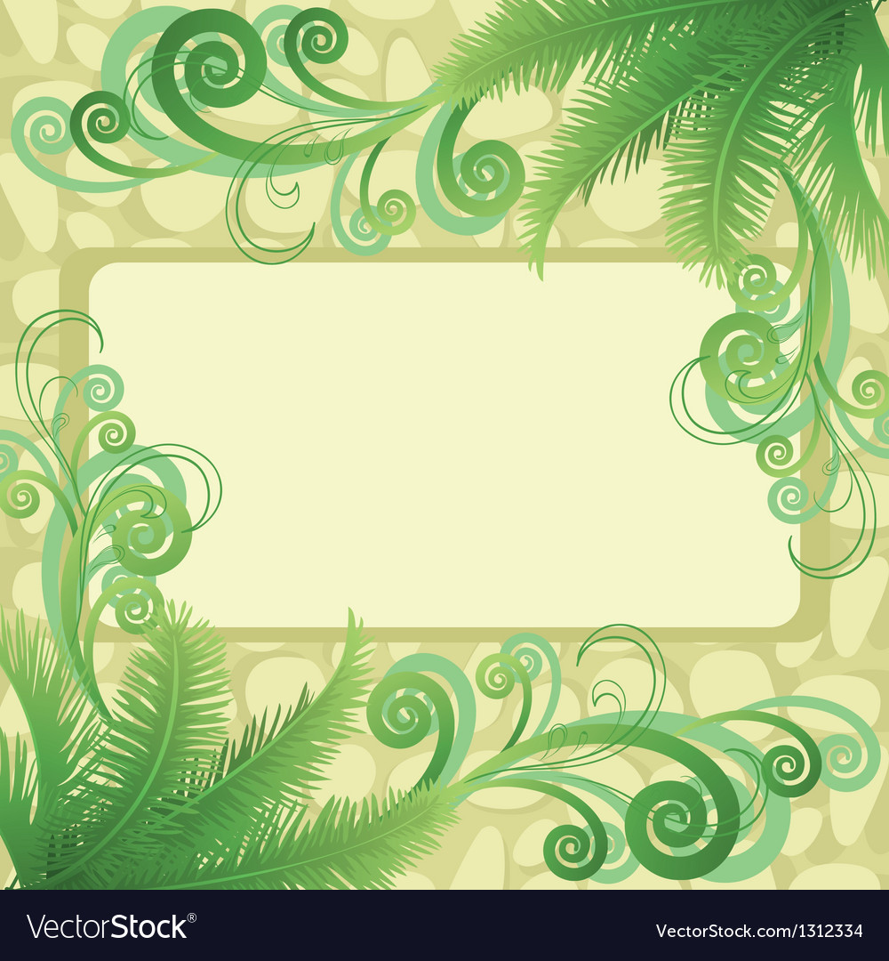 Palm leaves and abstract pattern vector | Price: 1 Credit (USD $1)