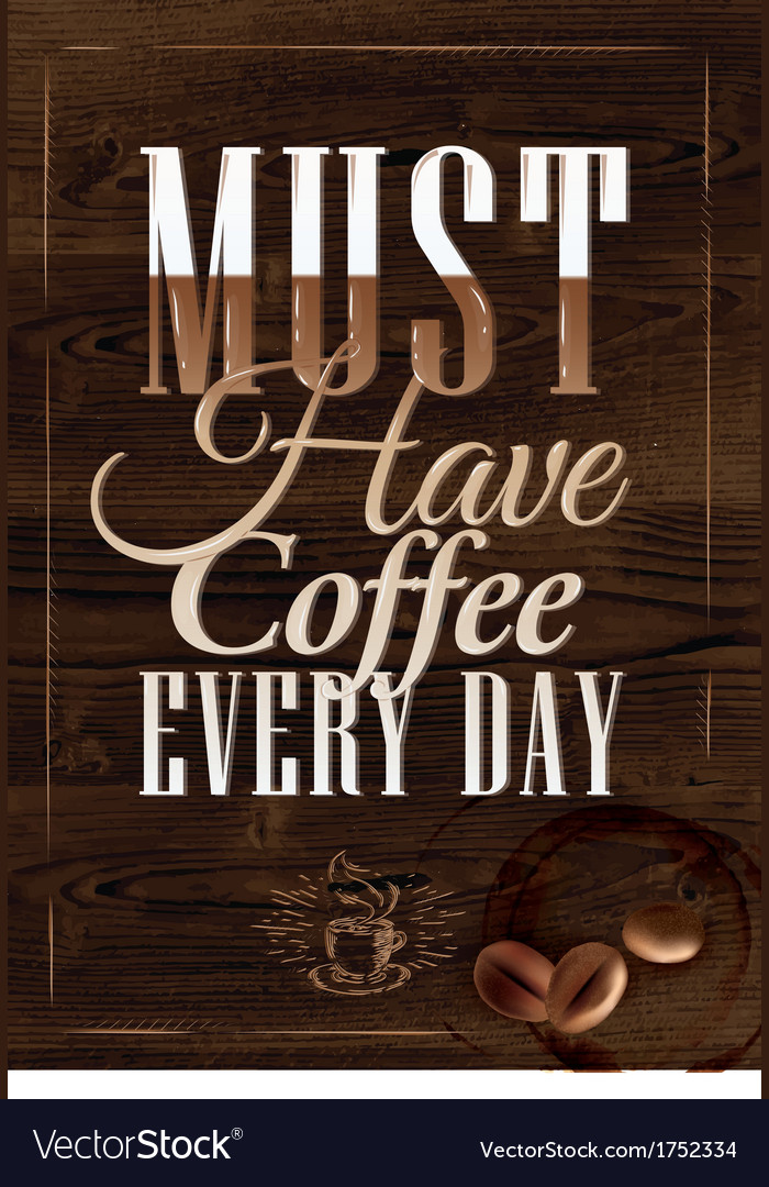 Poster grain coffee 2 vector | Price: 1 Credit (USD $1)