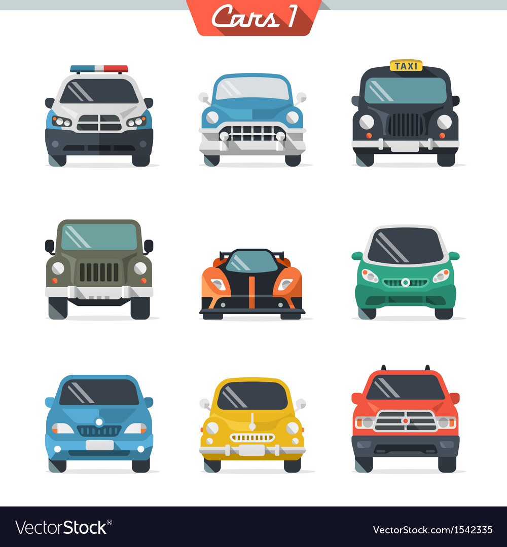 Car icon set 1 vector | Price: 1 Credit (USD $1)
