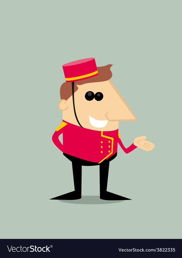 Cartoon bellboy vector   Price: 1 Credit (USD $1)