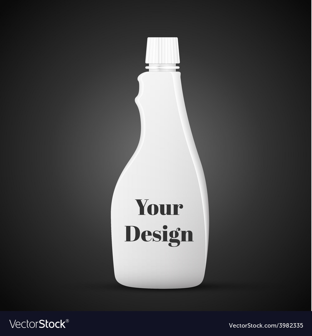Container detergent white on black background vector | Price: 1 Credit (USD $1)