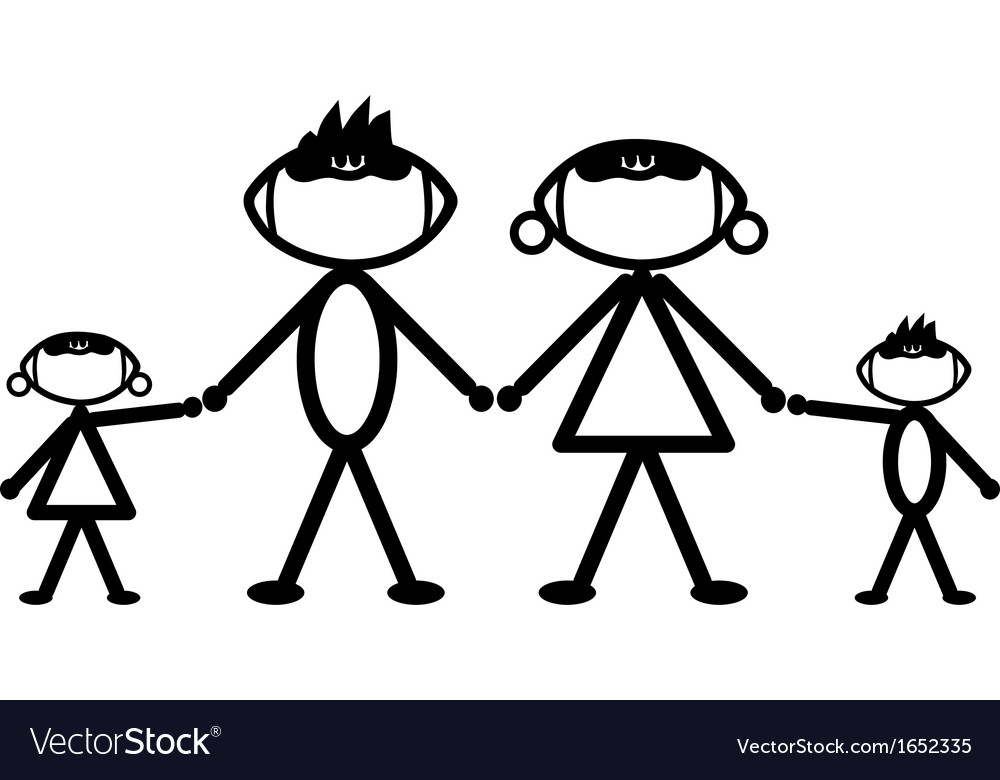 Football stick family vector | Price: 1 Credit (USD $1)